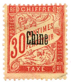 n°5* - Timbre CHINE Taxe