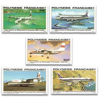 n.o 148 / 152 -  Sello Polinesia Correo aéreo