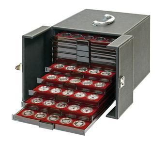 VALISE-BOX NERA MB10 (pour 10 box monnaies) - LINDNER