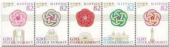 n° 9334/9338 - Timbre JAPON Poste