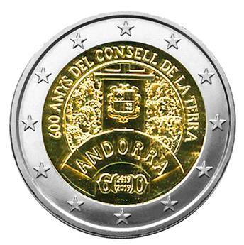 BU : 2 EURO COMMEMORATIVE 2019 : ANDORRE (600 ans du Conseil de la Terre)