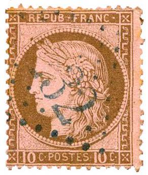 n°54 obl. B/TB - Timbre FRANCE Poste