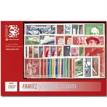 n° 334/371  - Timbre France Année complète  (1937)