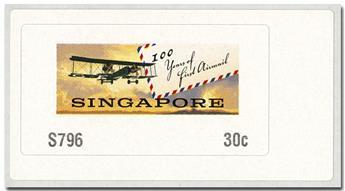 n° 18 - Timbre SINGAPOUR Timbres de distributeurs