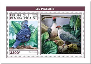 n° 1388 - Timbre CENTRAFRICAINE Blocs et feuillets