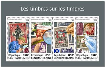 n° 5535/5538 - Timbre CENTRAFRICAINE Poste