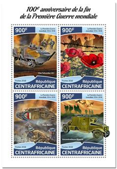 n° 5575/5578 - Timbre CENTRAFRICAINE Poste
