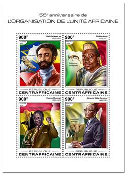 n° 5635/5638 - Timbre CENTRAFRICAINE Poste