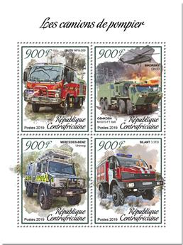 n° 6125/6128 - Timbre CENTRAFRICAINE Poste