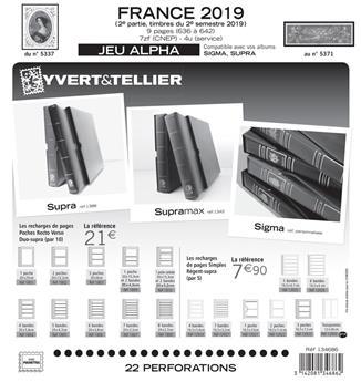 FRANCE ALPHA : 2019 - 2EME SEMESTRE (Sans pochettes)