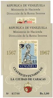 n°12/13** - Timbre VENEZUELA Blocs et Feuillets
