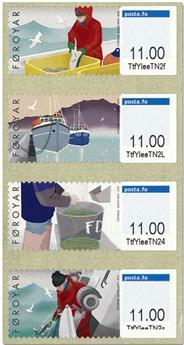 n° 57/60 - Timbre ILE FEROE Timbres de distributeurs