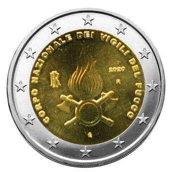 2 EURO COMMEMORATIVE 2020 : ITALIE (800 ANS DU CORPS DES SAPEURS POMPIERS)