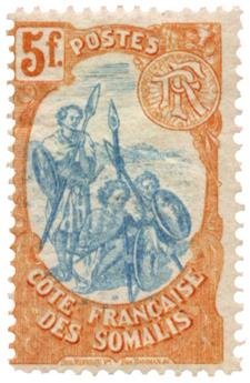 n°52* - Timbre COTE DES SOMALIS Poste