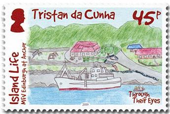 n° 1228/1231 - Timbre TRISTAN DA CUNHA Poste
