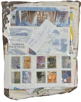 MONDE : 750 gr de timbres du Monde