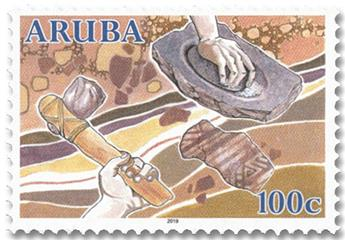 n° 1075/1078 - Timbre ARUBA Poste