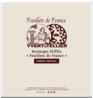 """Pages verticales """"SUPRA FEUILLETS DE FRANCE """" : blanc avec cadre (x10)"""