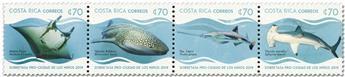 n° 1011/1014 - Timbre COSTA RICA Poste