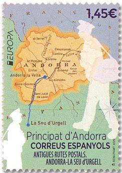 n° 484 - Timbre ANDORRE ESPAGNOL Poste