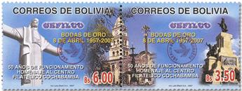 n° 1610/1611 -  Timbre BOLIVIE Poste