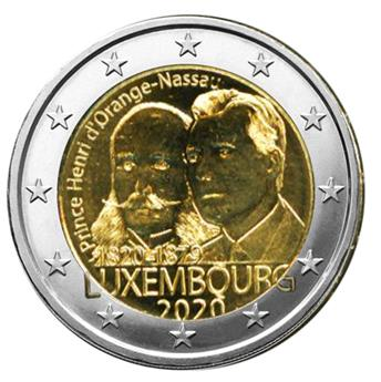 2 EURO COMMEMORATIVE 2020 : LUXEMBOURG (200 ans Prince Henri d´Orange)