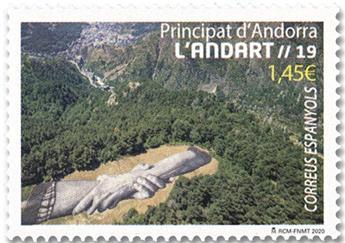 n° 487 - Timbre ANDORRE ESPAGNOL Poste