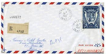 n° 21 obl. sur lettre -  Timbre TAAF Poste aérienne