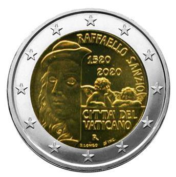 BU : 2 EURO COMMEMORATIVE 2020 : VATICAN (500 ans de la mort de Raphael)