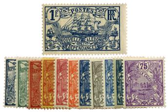 n°114/125** - Timbre NOUVELLE CALEDONIE Poste