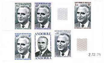 France : Série Pompidou 1974 (6 valeurs neufs**)