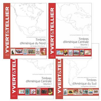 PACK AMERIQUE : Catalogues des timbres d´Amerique (4 Volumes)