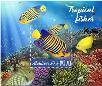 n° 1354 - Timbre MALDIVES Blocs et feuillets