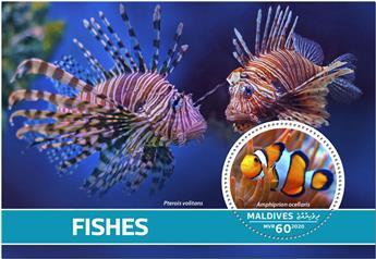 n° 1460 - Timbre MALDIVES Blocs et feuillets