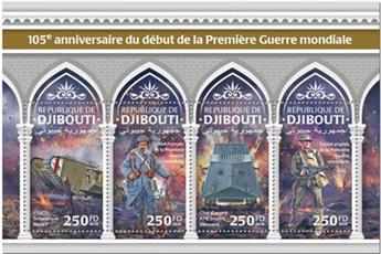 n° 2833/2836 - Timbre DJIBOUTI Poste