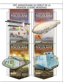 n° 7362/7365 - Timbre TOGO Poste
