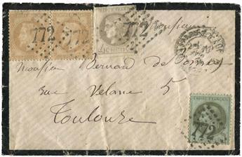 France : n°41A obl. sur lettre
