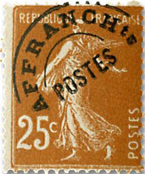 n° 57 - Timbre France Préoblitérés