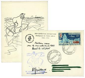 TAAF : Carte de vœux de 1969 (Paul-Emile Victor)
