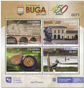 n° 2075/2078 - Timbre COLOMBIE Poste