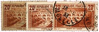 n°262, 262A, 262B obl. - Timbre FRANCE Poste