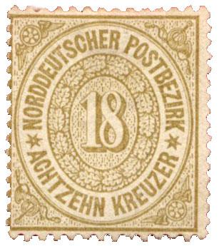 n°22(*) - Timbre ALLEMAGNE CONFEDERATION NORD Poste