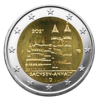 2 EURO COMMEMORATIVE 2021 : ALLEMAGNE (Cathédrale de Sachsen-Anhalt)