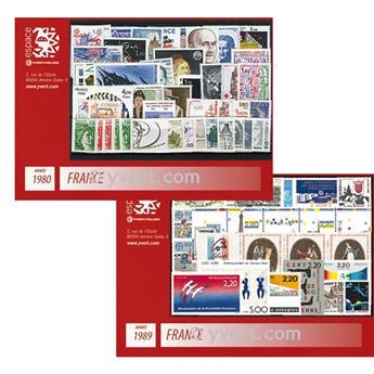 n° 2073/2614 -  Timbre France Année complète (1980/1989)
