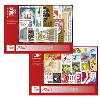 n° 2615/23293 -  Timbre France Année complète (1990/1999)