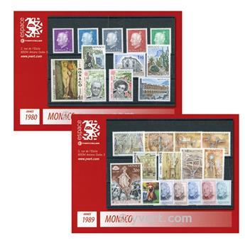 n° 1980-1989 -  Selo Mónaco Ano completo