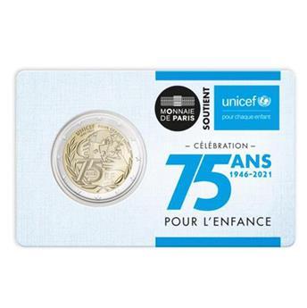 BU : 2 EURO COMMEMORATIVE 2021 : FRANCE 2021 (75 ans UNICEF)