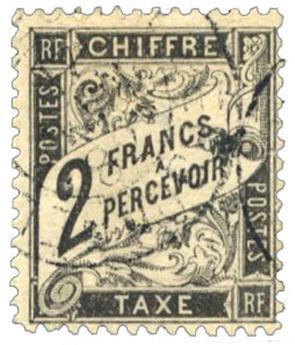 n°23 obl. B  - Timbre FRANCE Taxe