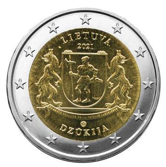 2 EURO COMMEMORATIVE 2021 : LITUANIE (Région historique de Dzukija)