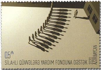 n° 1252 - Timbre AZERBAIDJAN Poste